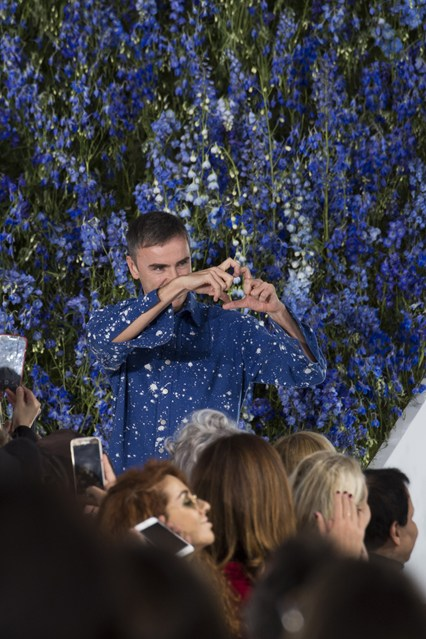 Raf Simons posing after his last Christian Dior show, October 2, 2015
