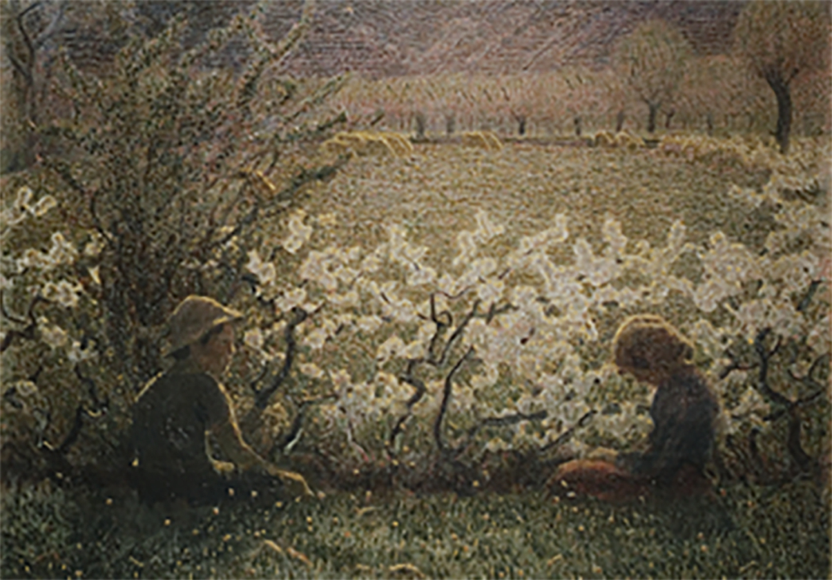 Giuseppe Pellizza da Volpedo, Prato fiorito (Lawn in Bloom), 1900-03, oil on canvas