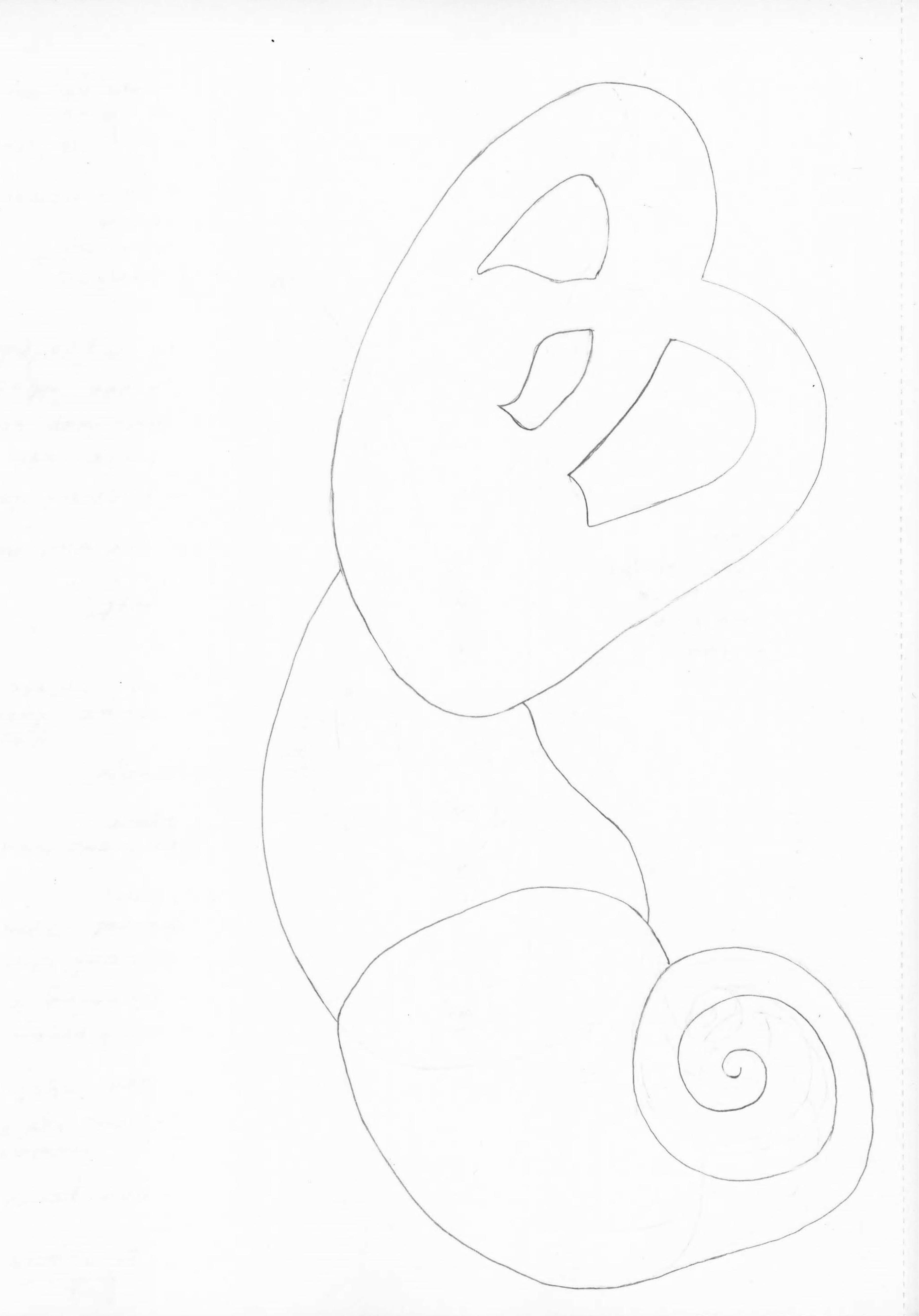 Georgia Sagri, Soma in orgasm as ear, 2017, pencil on paper, 29.5 × 20 cm