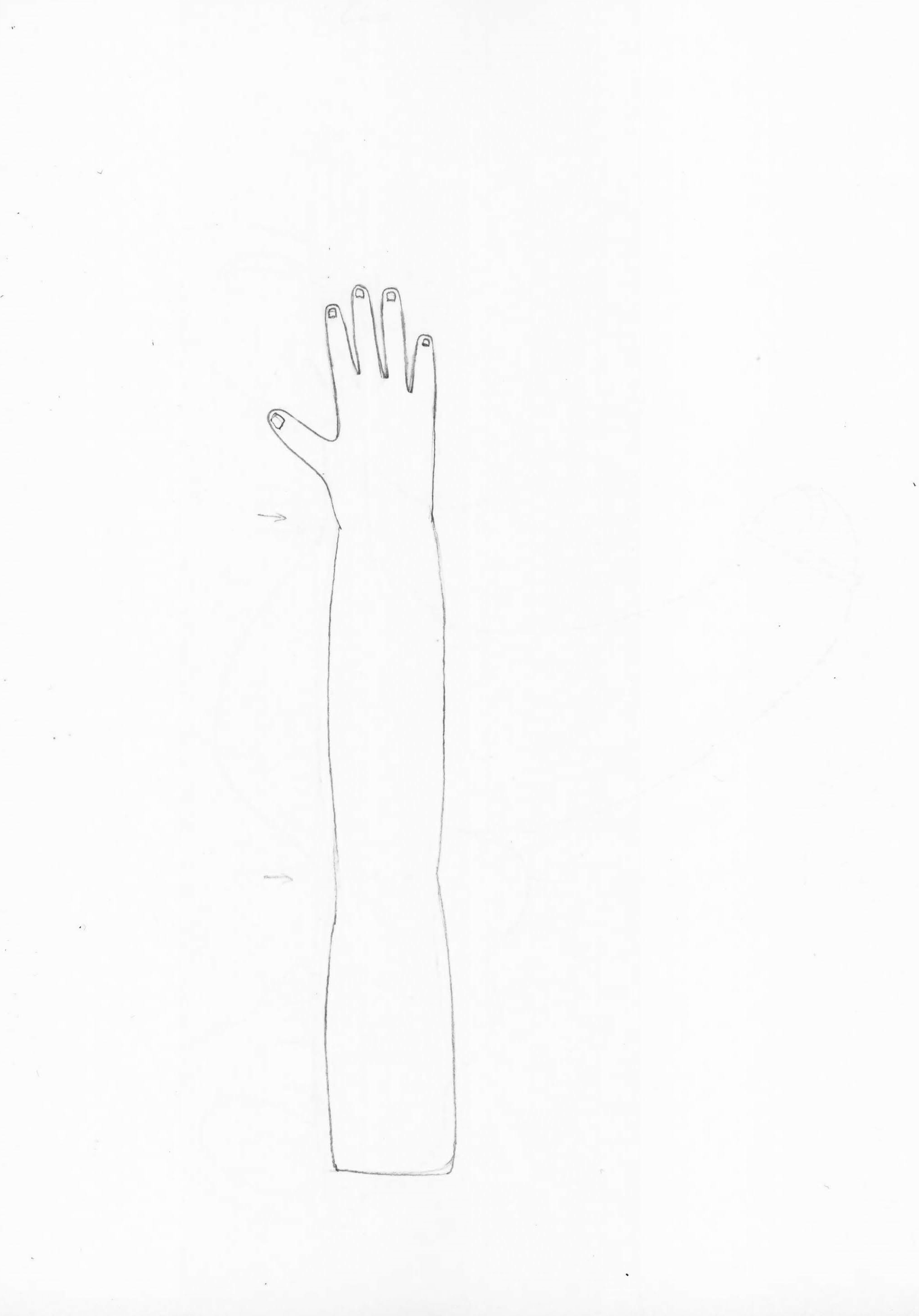 Georgia Sagri, Soma in orgasm as hand, 2017, pencil on paper, 29.5 × 20 cm