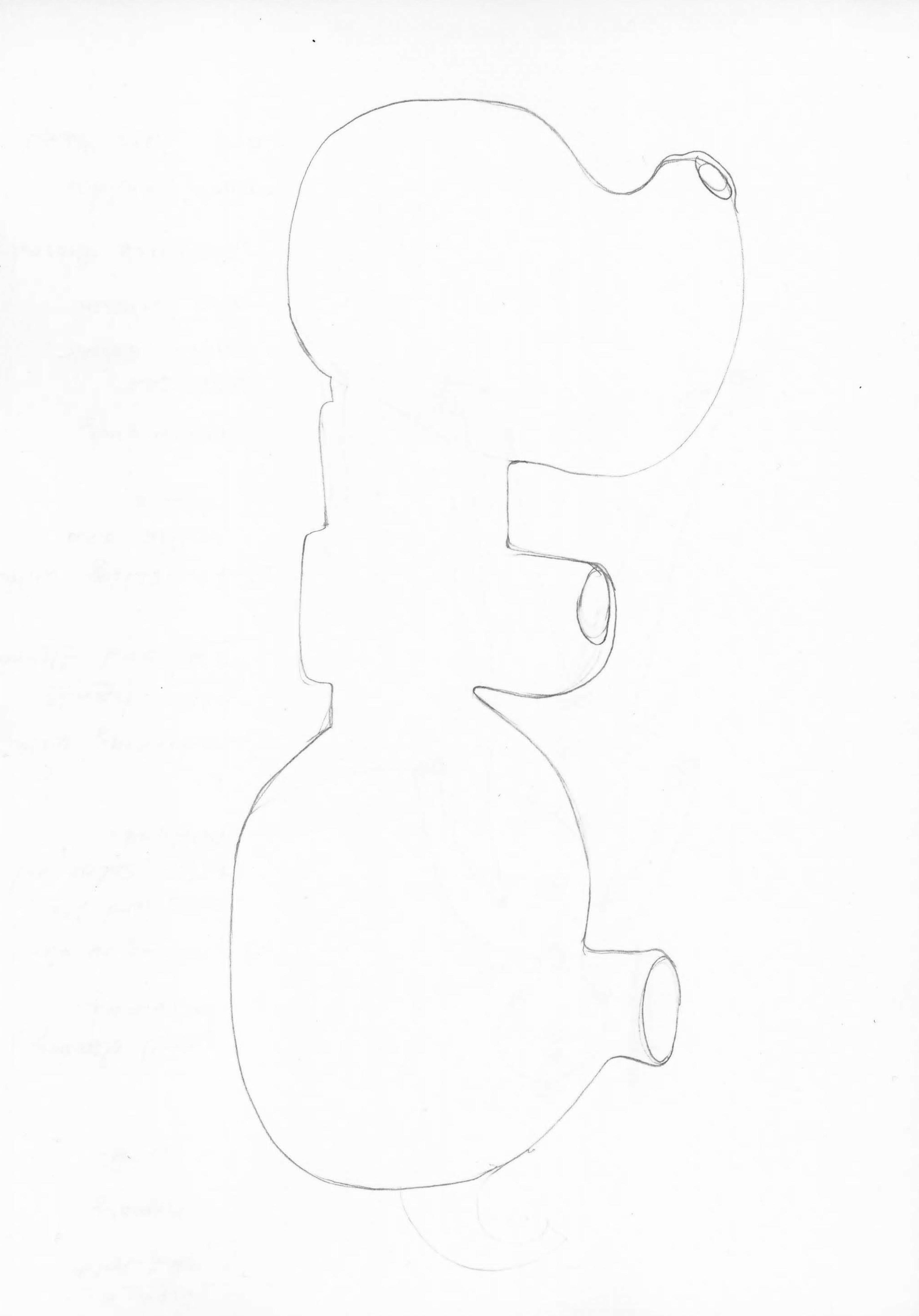 Georgia Sagri, Soma in orgasm as heart, 2017, pencil on paper, 29.5 × 20 cm
