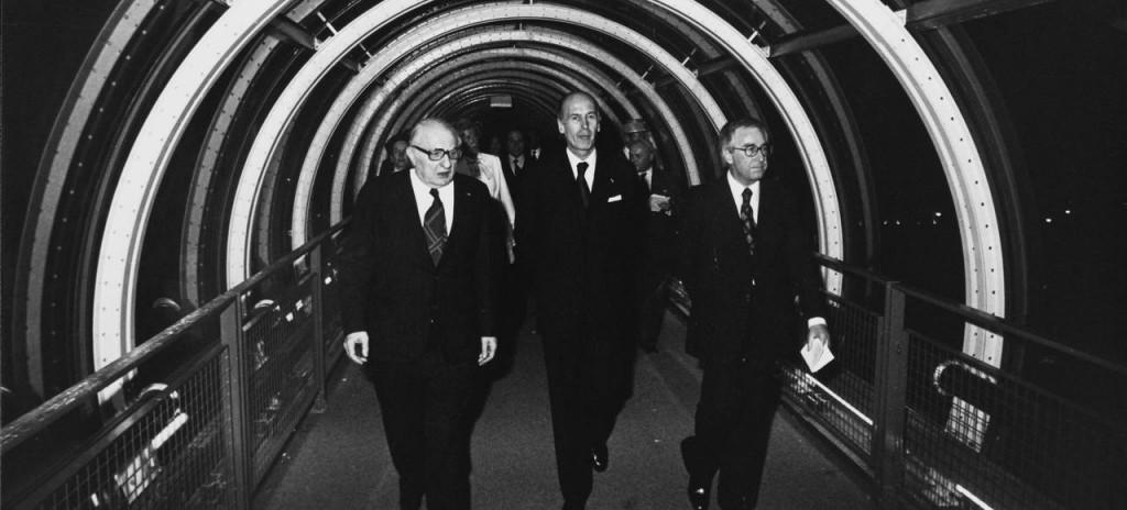 Inauguration du Centre Georges Pompidou, 31 Janvier 1977