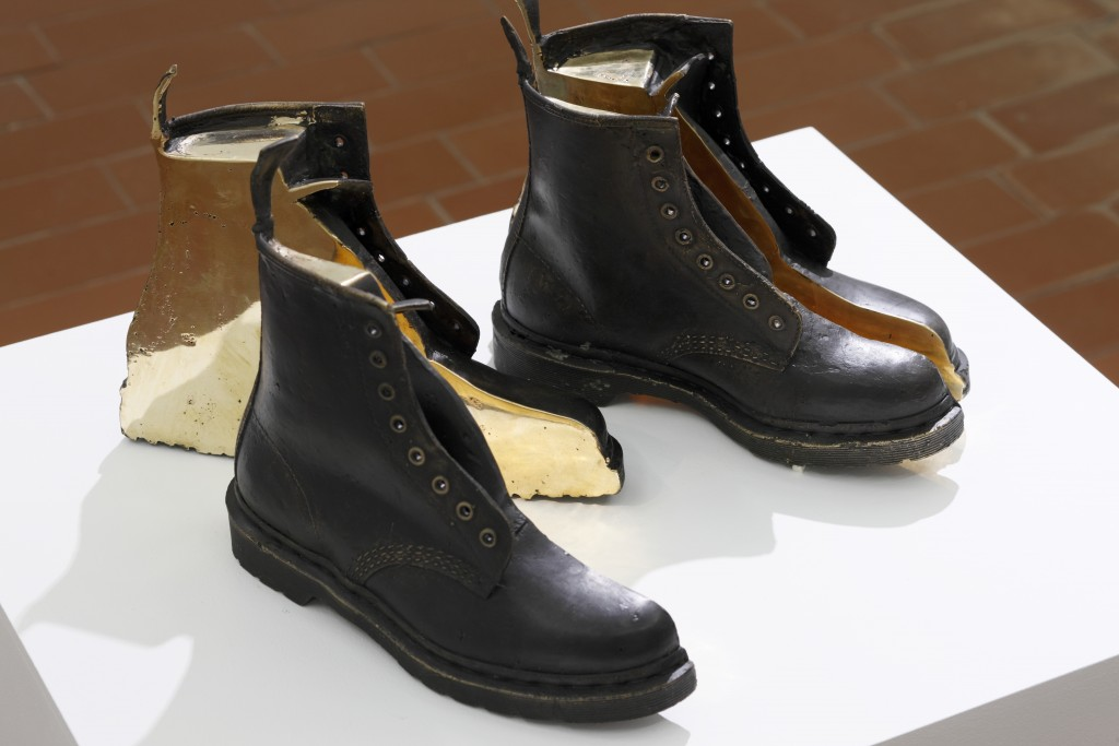 Tobias Kaspar, 1406 Dr. Martens, 2017, bronze (cut and partly polished), cast done by Oskars Mikāns