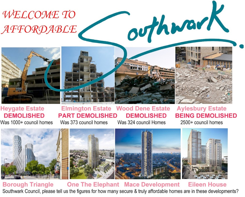 Southwark housing campaigns to support the occupation on the Aylesbury Estate (2015)