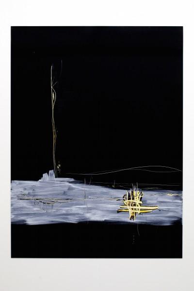 Contract, 2014, Lamda print mounted on black dibond, acrylics, etching, 135 x 100cm