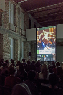 Nina Könnemann, Free Wifi 3, KW Institute for Contemporary Art, Berlin, 2017, view from the live-video-performance